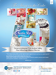 Satin Ice 75th Hudson Valley Food & Beverage Alliance Member